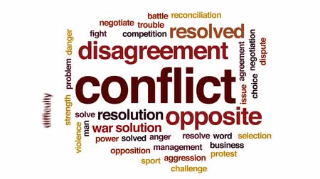 dohoda : Conflict animated word cloud, text design animation.