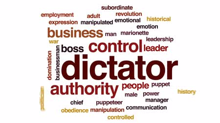 dominação : Dictator animated word cloud, text design animation. Vídeos