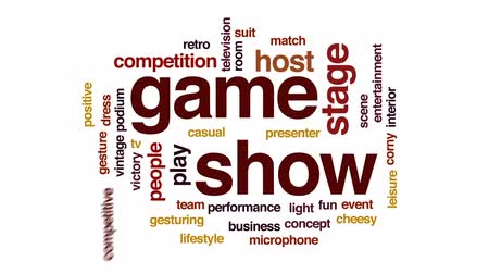 подиум : Game show accelerator animated word cloud, text design animation. Стоковые видеозаписи