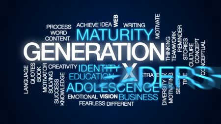 fearless : Generation X animated word cloud, text design animation.