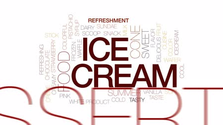 üdítő : Ice cream animated word cloud, text design animation. Kinetic typography.