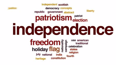 election campaign : Independence animated word cloud, text design animation. Stock Footage