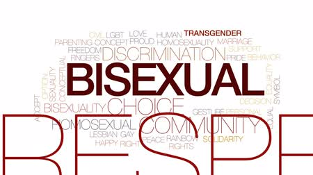 eşitlik : Bisexual animated word cloud, text design animation. Kinetic typography.