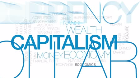 ganancioso : Capitalism animated word cloud, text design animation. Kinetic typography.