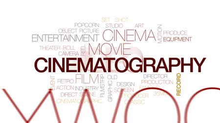 tiyatro : Cinematography animated word cloud, text design animation. Kinetic typography.