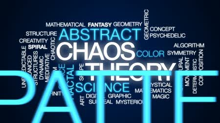 matematikai : Chaos theory animated word cloud, text design animation.