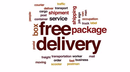rád : Free delivery animated word cloud, text design animation. Dostupné videozáznamy