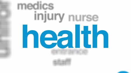acil : Hospital animated word cloud, text design animation. Stok Video