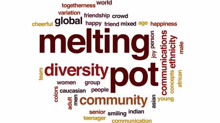 idade média : Melting pot animated word cloud, text design animation. Stock Footage