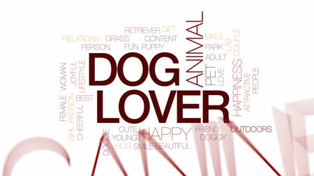 köpek yavrusu : Dog lover animated word cloud, text design animation. Kinetic typography. Stok Video