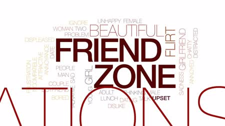 annoyance : Friend zone animated word cloud, text design animation. Kinetic typography.