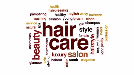 mimos : Hair care animated word cloud, text design animation.