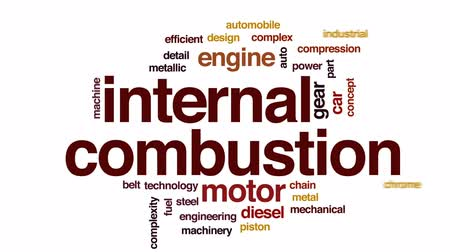 водород : Internal combustion animated word cloud, text design animation.