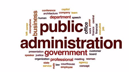 adliye : Public administration animated word cloud, text design animation.