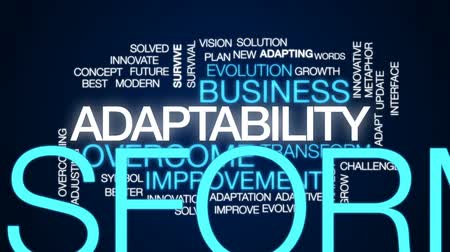 adapt : Adaptability animated word cloud, text design animation.