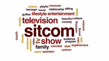 cancelado : Sitcom animated word cloud, text design animation.