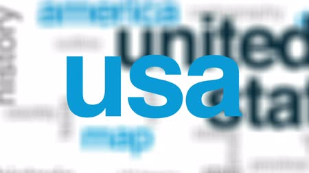 contornos : United states animated word cloud, text design animation. Vídeos
