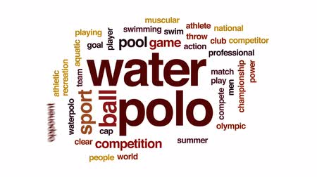 konkurenti : Water polo animated word cloud, text design animation.