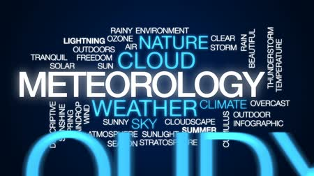 stratosphere : Meteorology animated word cloud, text design animation.