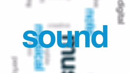 dinleme : Music animated word cloud, text design animation.