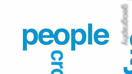 bez szwu : Overpopulation animated word cloud, text design animation. Wideo