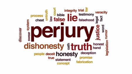 söz : Perjury animated word cloud, text design animation.