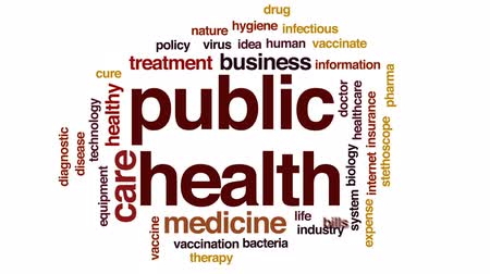 bakterie : Public health animated word cloud, text design animation.