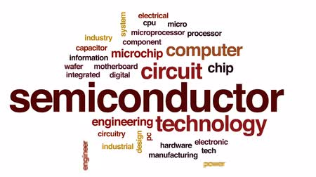 entegre : Semiconductor animated word cloud, text design animation.