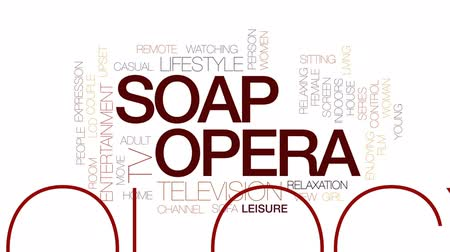 Soap animated word cloud, text design animation. Kinetic typography.