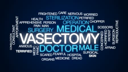 vasectomy : Vasectomy animated word cloud, text design animation. Stock Footage