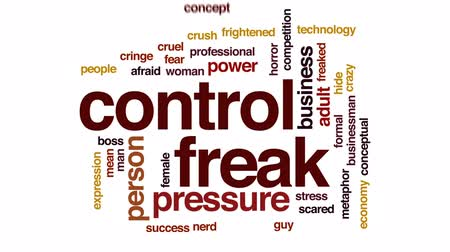 significar : Control freak animated word cloud, text design animation. Vídeos