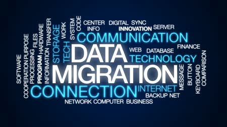 göç : Data migration animated word cloud, text design animation.