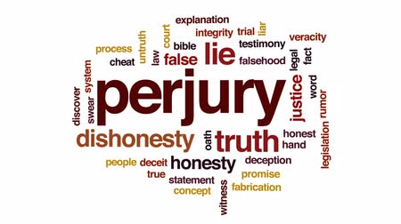 честный : Perjury animated word cloud, text design animation.