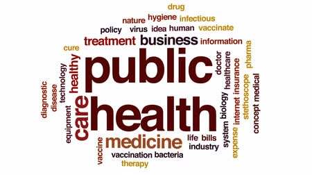 infectious : Public health animated word cloud, text design animation.