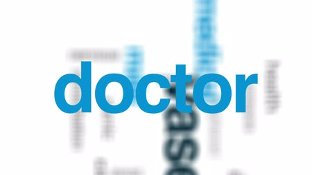 korku : Vasectomy animated word cloud, text design animation. Stok Video