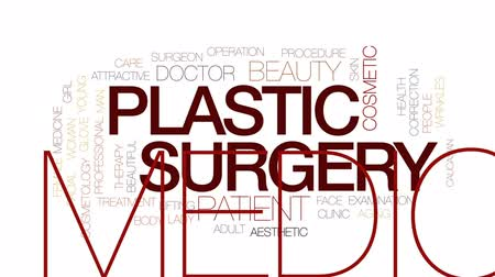 estético : Plastic surgery animated word cloud, text design animation.Kinetic typography.