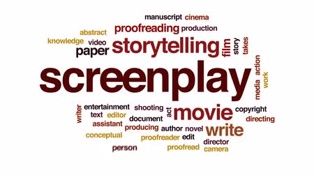 dyrektor : Screenplay animated word cloud, text design animation.