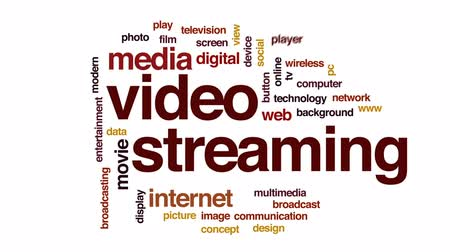 привет : Video streaming animated word cloud, text design animation.