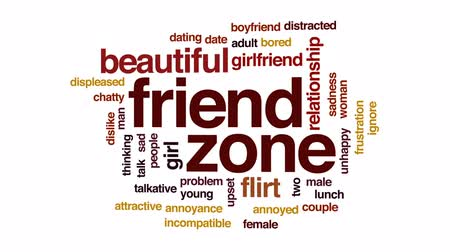annoyance : Friend zone animated word cloud, text design animation.