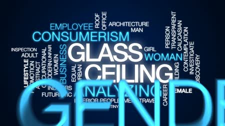 investigar : Glass ceiling animated word cloud, text design animation. Vídeos
