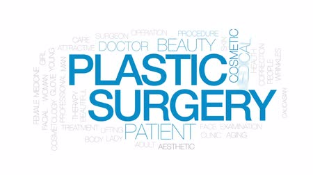 estético : Plastic surgery animated word cloud, text design animation. Kinetic typography.