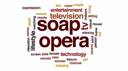novela : Soap opera animated word cloud, text design animation.
