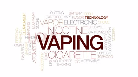 mouthpiece : Vaping animated word cloud, text design animation. Kinetic typography.