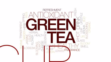 yasemin : Green tea animated word cloud, text design animation. Kinetic typography.