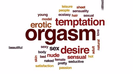 naga : Orgasm animated word cloud, text design animation.