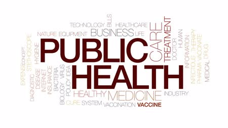 despesas : Public health animated word cloud, text design animation. Kinetic typography.