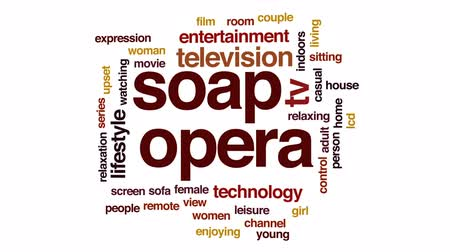Soap animated word cloud, text design animation.