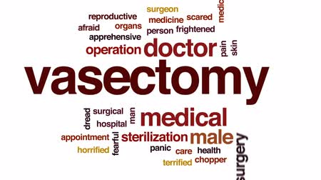 preocupar se : Vasectomy animated word cloud, text design animation. Vídeos