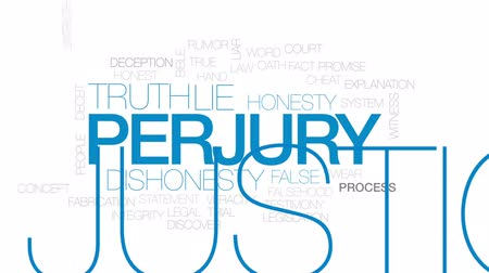честный : Perjury animated word cloud, text design animation. Kinetic typography.