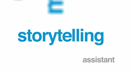 stories : Screenplay animated word cloud, text design animation.